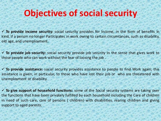 Presentation On Introduction Social Security