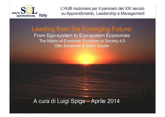 L'HUB nazionale per il pensiero del XXI secolo su Apprendimento, Leadership e Management Leading from the Emerging Future:...