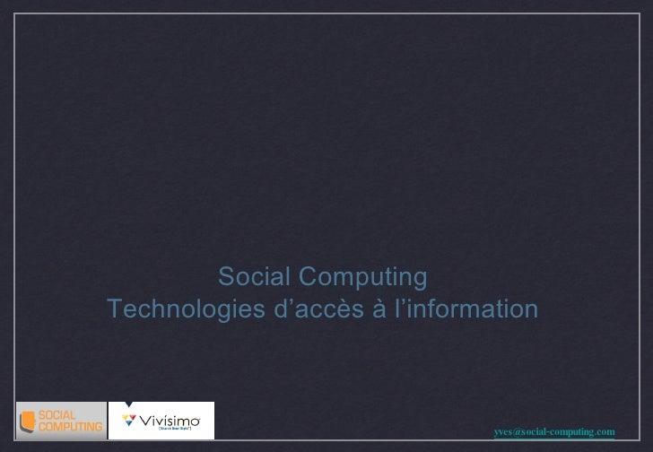 Social Computing  Technologies d'accès à l'information