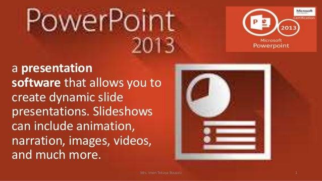 presentation software powerpoint 2013