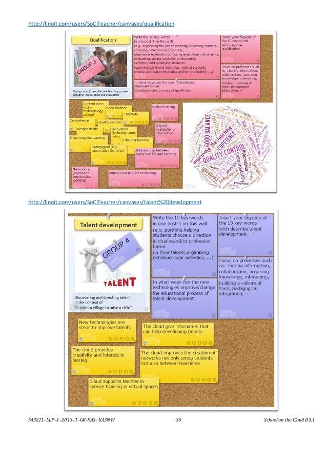 543221–LLP–1–2013–1–GR-KA3- KA3NW 36 School on the Cloud D3.1 http://linoit.com/users/SoCiTeacher/canvases/qualification h...