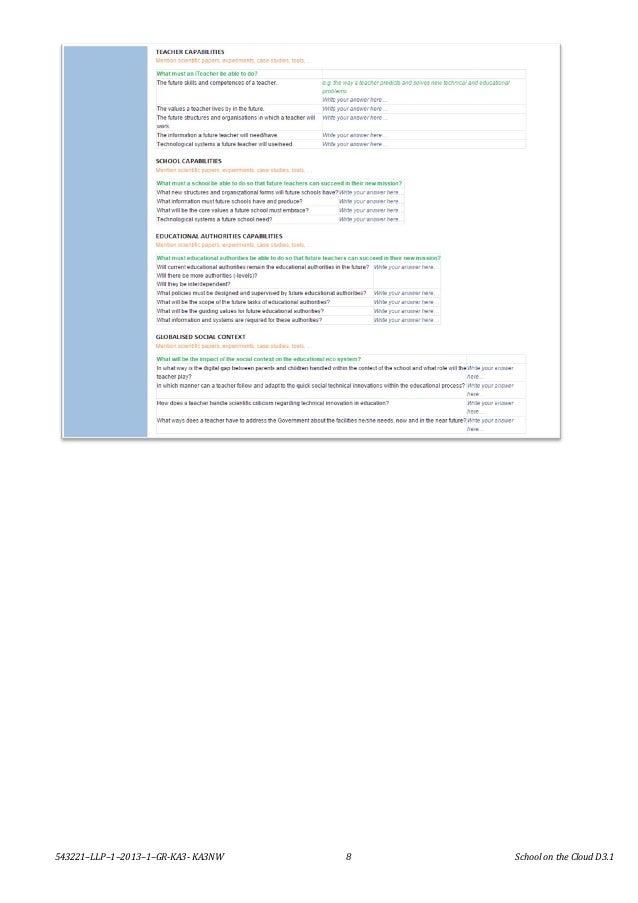 543221–LLP–1–2013–1–GR-KA3- KA3NW 8 School on the Cloud D3.1