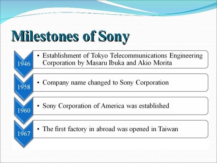 Electronics industry analysis sony m ilestones of sony fandeluxe Gallery