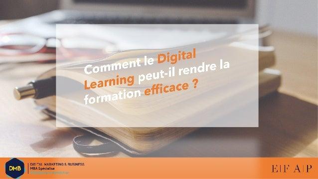 Plan 1. Enjeux de la formation professionnelle dans l'entreprise (grande entreprise) 2. Problématique : comment le Digital...