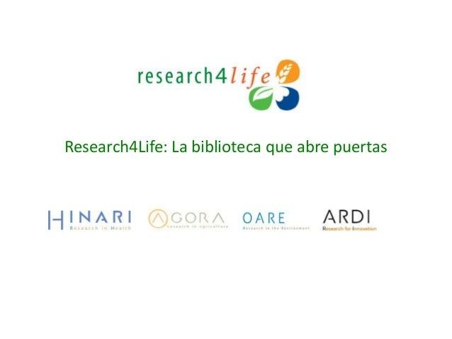 Research4Life: La biblioteca que abre puertas
