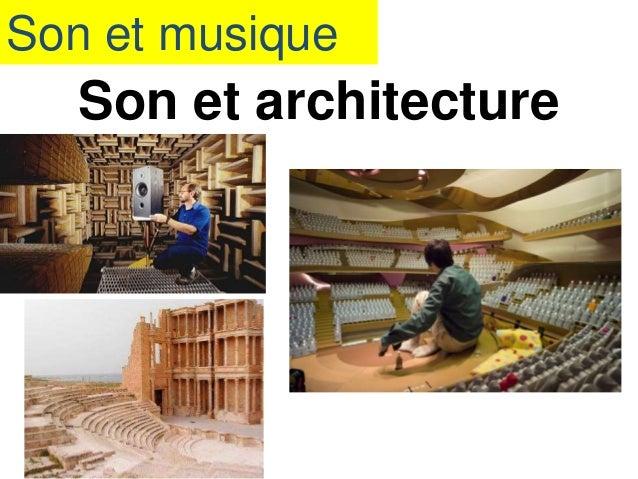 Son et musique Son et architecture