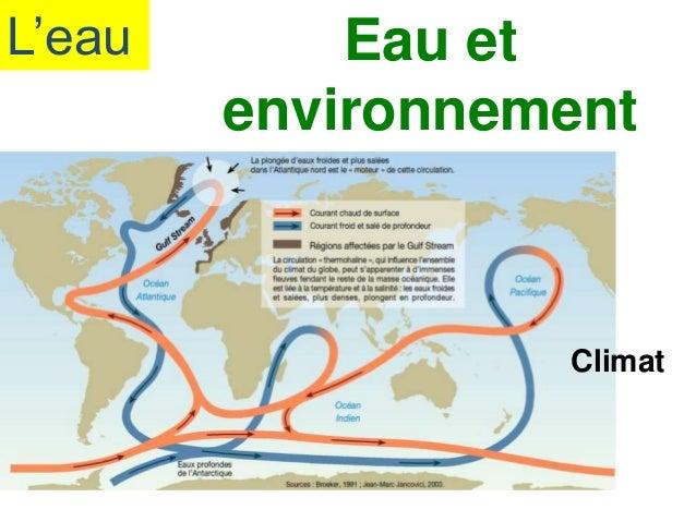 L'eau Eau et environnement Climat