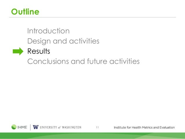11 Outline Introduction Design and activities Results Conclusions and future activities