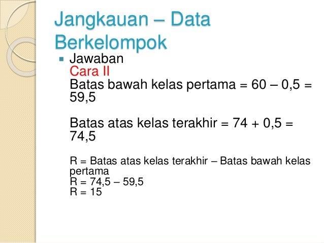 Data tinggi badan 50 mahasiswa
