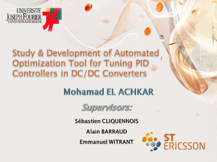 Study & Development of Automated Optimization Tool for Tuning PID Controllers in DC/DC Converters<br />