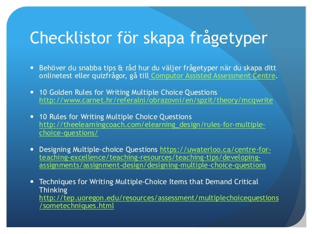 """writing multiple choice questions that demand critical thinking Descriptive, analytical, critical/evaluative,  (adapted from """"reflective writing,"""" nd """"critical thinking  the rationale for your choice describe what."""