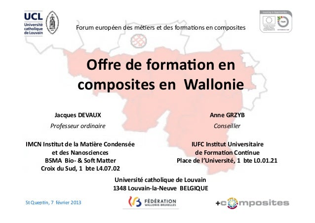 Forum européen des mé)ers et des forma)ons en composites                                             Offr...
