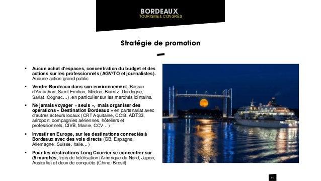 Pr sentation strat gie de promotion office de tourisme de bordeaux - Office de tourisme de bordeaux ...