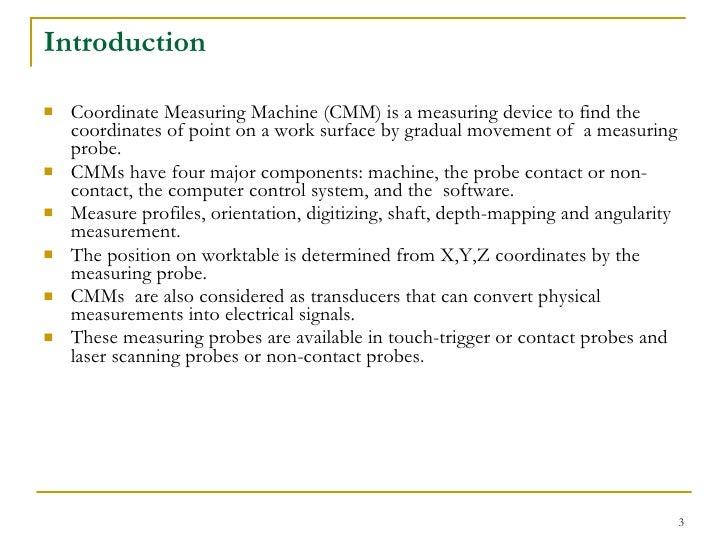 Presentation Study On Cmm And Application