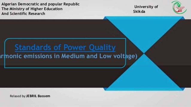 Standards Of Power Quality Medium And Low Voltage Electrical Power G