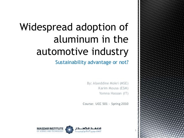 Sustainability advantage or not?  By: Alaeddine Mokri (MSE) Karim Mousa (ESM) Yomna Hassan (IT) Course: UCC 501 - Spring 2...