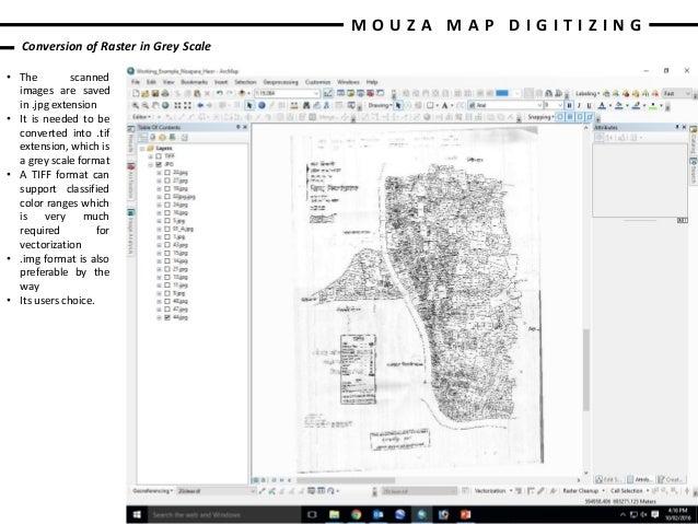 Mouza Map Digitizing using ArcScan