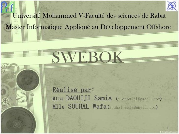 Université Mohammed V-Faculté des sciences de RabatMaster Informatique Appliqué au Développement Offshore              SWE...