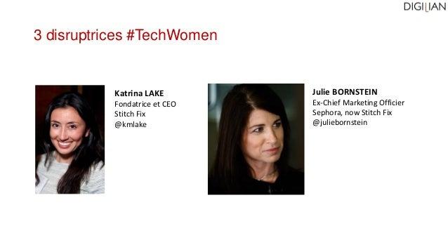 Julie BORNSTEIN Ex-Chief Marketing Officier Sephora, now Stitch Fix @juliebornstein Katrina LAKE Fondatrice et CEO Stitch ...