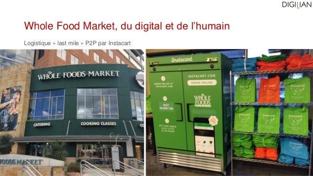 Whole Food Market, du digital et de l'humain Logistique « last mile » P2P par Instacart
