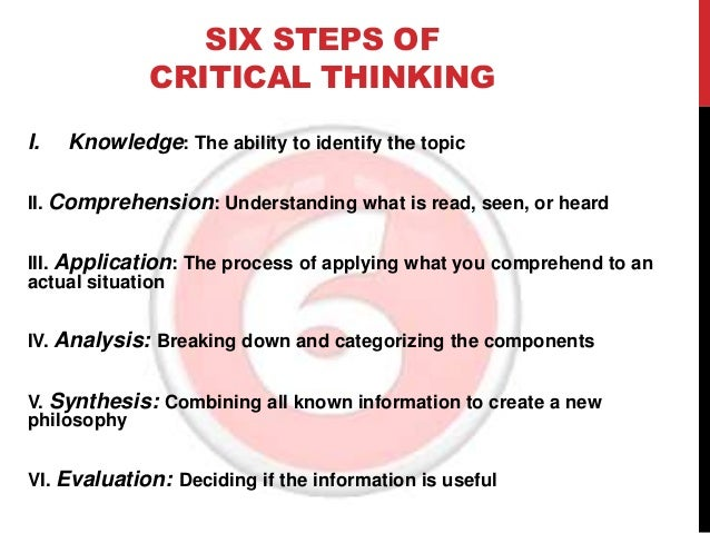 Critical Thinking And Steps And Process
