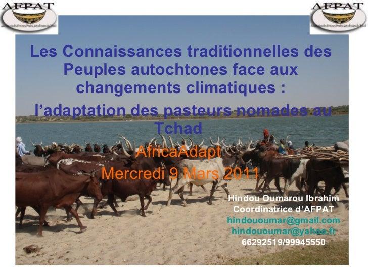 Les Connaissances traditionnelles des Peuples autochtones face aux changements climatiques : l'adaptation des pasteurs nom...
