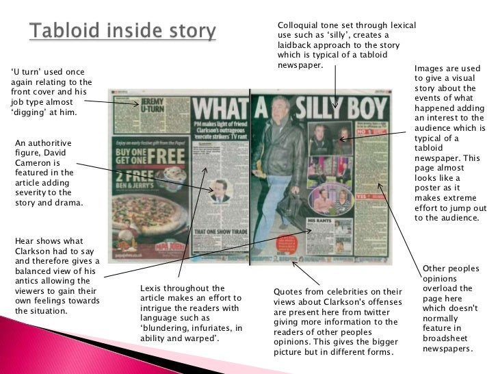 A comparative analysis of broadsheet and tabloid newspapers