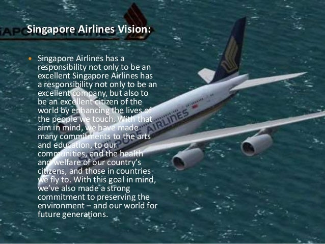 Vision and mission of singapore airlines