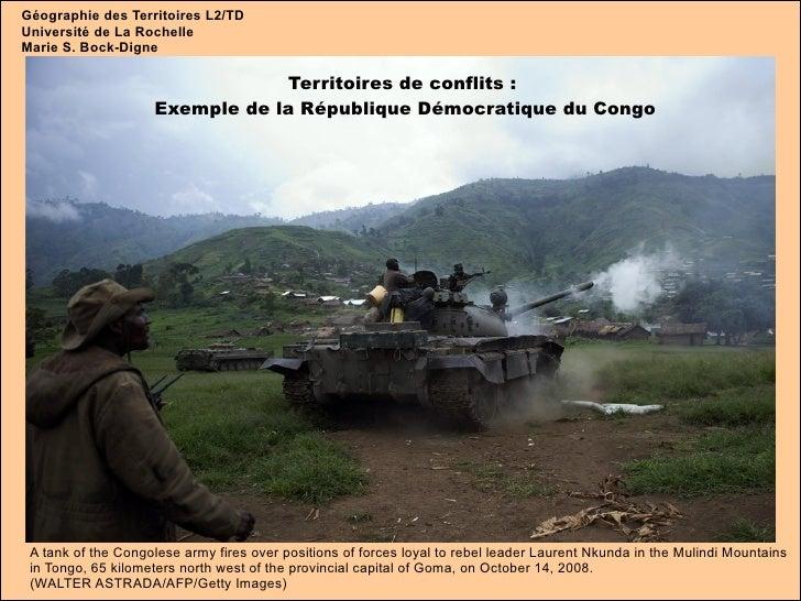 Géographie des Territoires L2/TD Université de La Rochelle Marie S. Bock-Digne Territoires de conflits :  Exemple de la Ré...