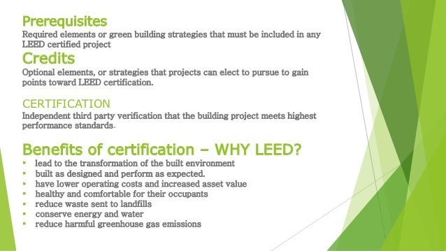 Leed certified buildings examplspresentation team work for Benefits of leed