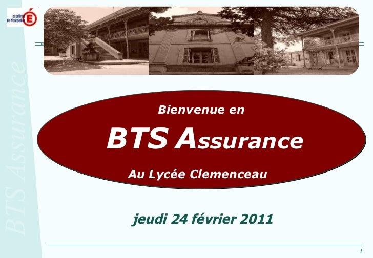 Bienvenue en BTS   A ssurance Au Lycée Clemenceau   jeudi 24 février 2011