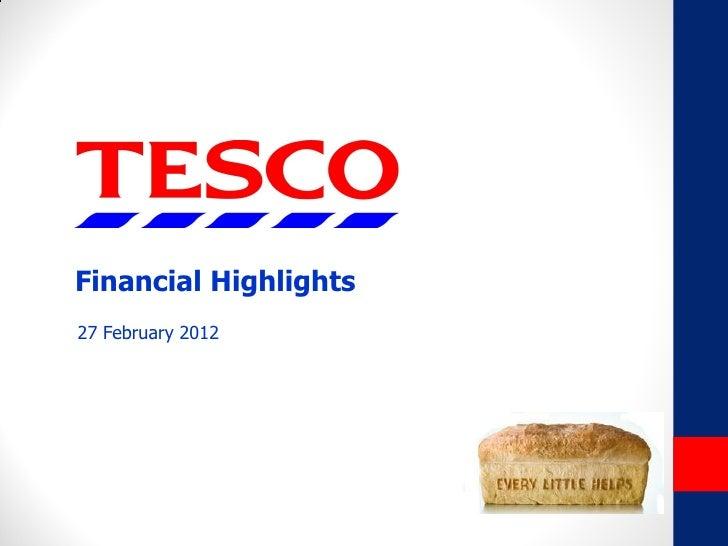 Financial Highlights27 February 2012