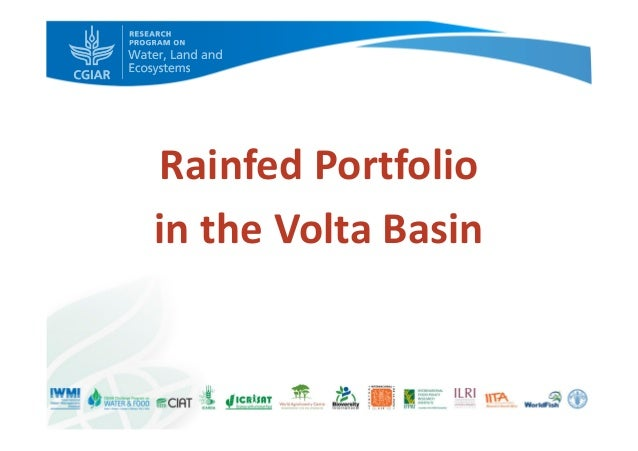 Rainfed Portfolio in the Volta Basin