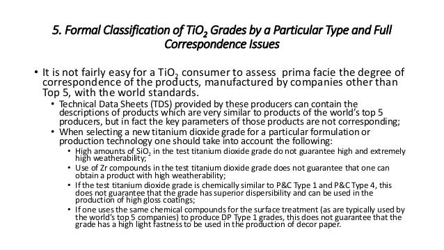 Selection of Suitable Titanium Dioxide Grades for Paints and