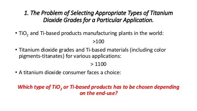 Selection of Suitable Titanium Dioxide Grades for Paints and Coatings…