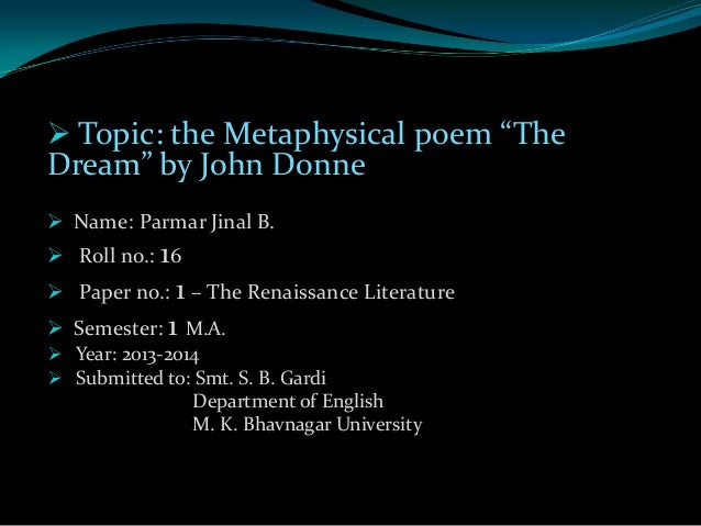 essay john donne metaphysical poet