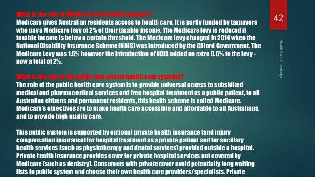 the australian health care system Health service delivery profile australia  australia health service delivery profile,  enjoys a high level of health status the health care system is a.