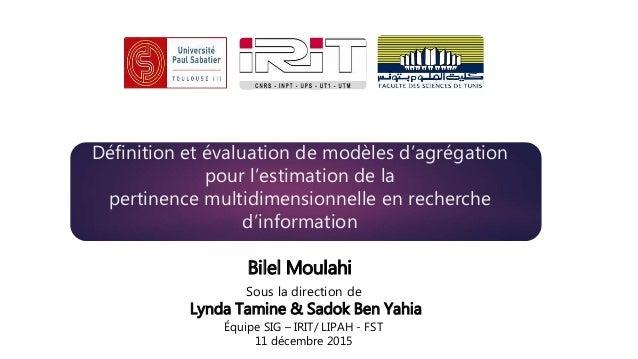 Définition et évaluation de modèles d'agrégation pour l'estimation de la pertinence multidimensionnelle en recherche d'inf...