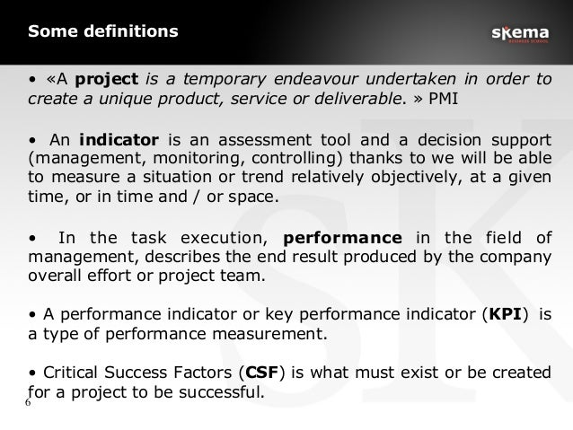 Some definitions • «A project is a temporary endeavour undertaken in order to create a unique product, service or deliver...