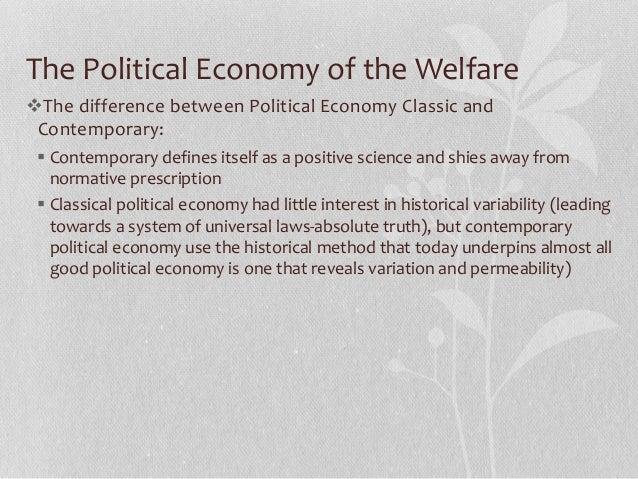 Differences: welfare, workfare, government employment.
