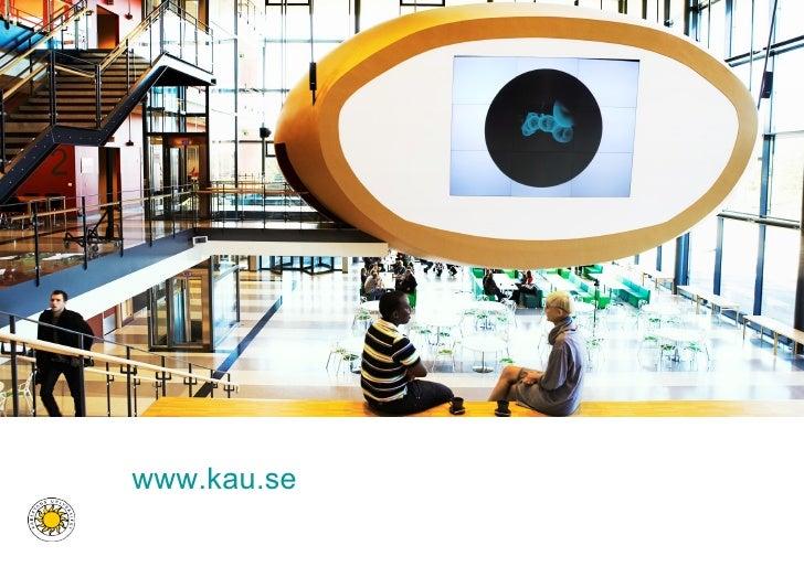 Présentation de la bibliothèque universitaire de Karlstad (Suède)