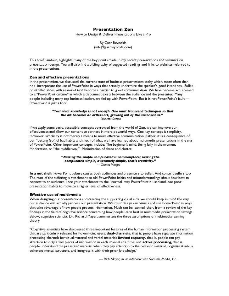 Presentation Zen                               How to Design & Deliver Presentations Like a Pro                           ...