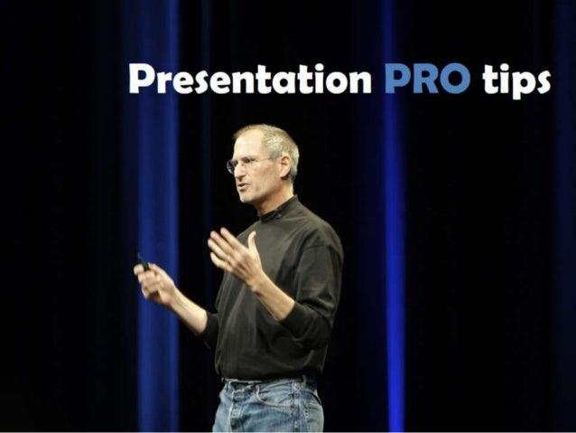 Train The Trainer : PRO Presentation tips