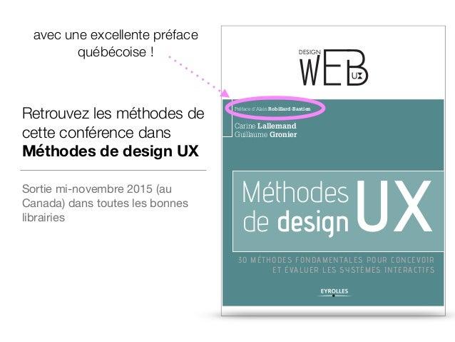 Methodes de design UX : revolutionnez votre coffre à outils ! - Soiree TLMUX novembre 2015 Slide 3