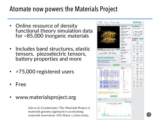 Software tools, crystal descriptors, and machine learning applied to materials design Slide 16