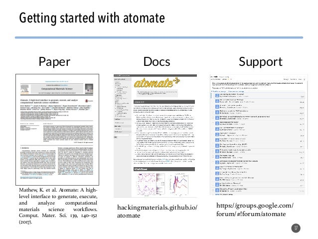 Software tools, crystal descriptors, and machine learning applied to materials design Slide 17