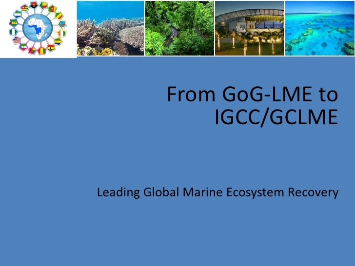 From GoG-LME to   IGCC/GCLME Leading Global Marine Ecosystem Recovery<br />