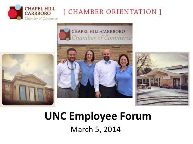 UNC Employee Forum March 5, 2014