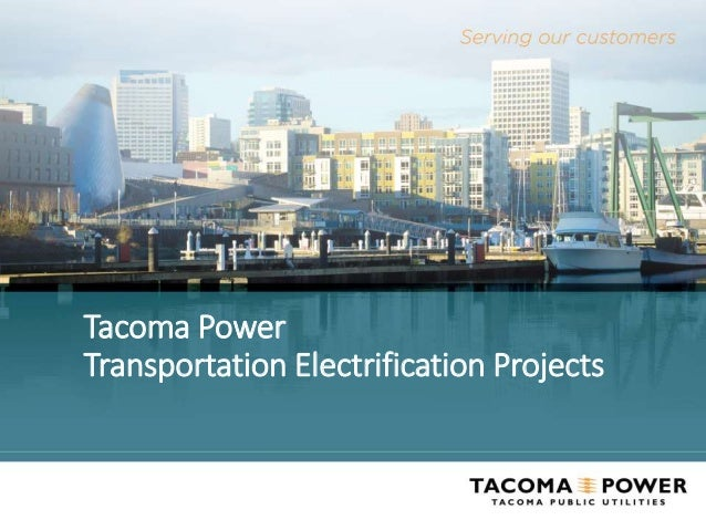 Tacoma Power Transportation Electrification Projects