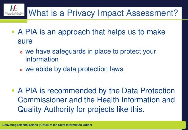 Individual Health Identifier (Ireland) - Privacy Impact Assessment